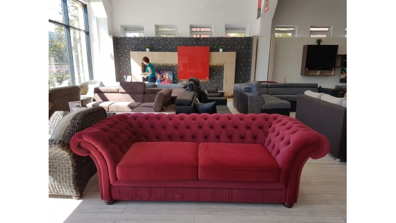 Canapea London Chesterfield 3L fixa