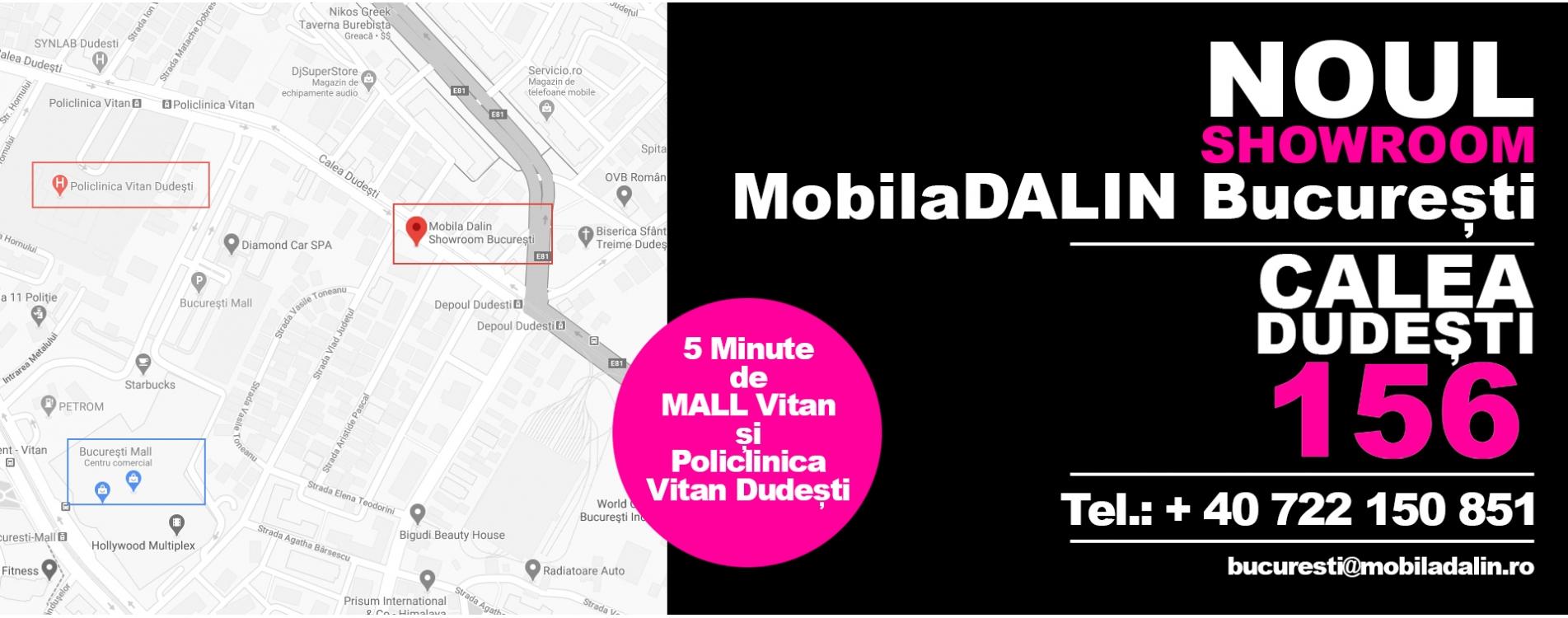MobilaDalin Bucuresti locatie noua